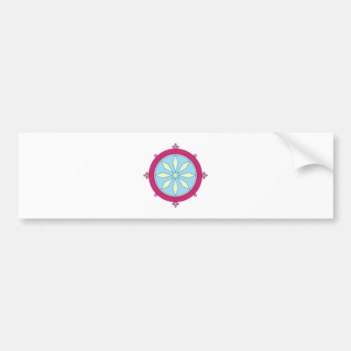 Hindu Chakra Dharma law wheel Wheel Justice Bumper Stickers