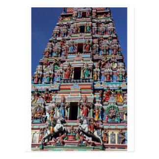 Hindu deities and gods on temple gopuram postcard