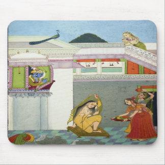 Hindu Deities Krishna and Radha Mouse Pads