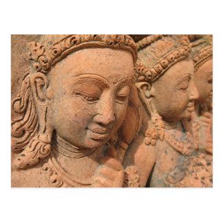 Hindu Deity Stone Statue Postcard