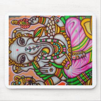 Hindu Elephant Woman Mouse Pad