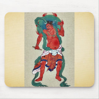 Hindu figure with green halo behind his head mousepads