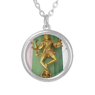 Hindu god silver plated necklace