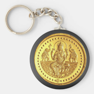 HINDU GODDESS LAKSHMI BASIC ROUND BUTTON KEY RING