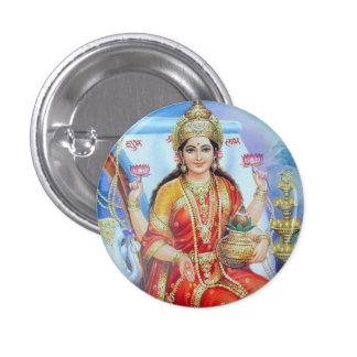 Hindu Goddess Lakshmi Devi 3 Cm Round Badge