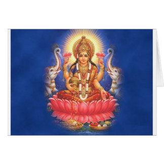 Hindu Goddess Laxmi Devi Mata Card