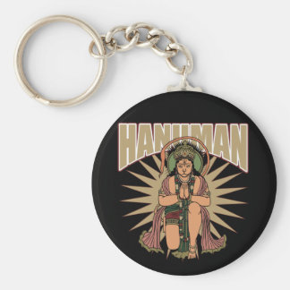 Hindu Hanuman Basic Round Button Key Ring