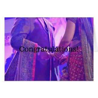 Hindu Marriage Congratulations Card