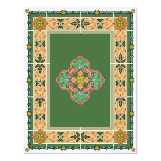 Hindu Muslim Arabic Wedding or Mehndi Invitation 5