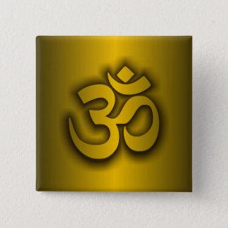 """Hindu """"Om"""" 15 Cm Square Badge"""