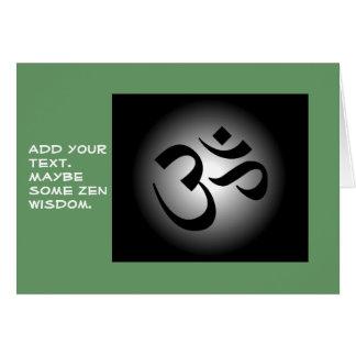 Hindu OM - Meditation Symbol Card