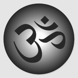 Hindu OM - Meditation Symbol Classic Round Sticker