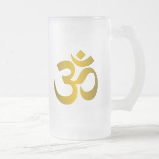 "Hindu ""Om"" Frosted Glass Mug"
