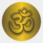 """Hindu """"Om"""" Round Sticker"""