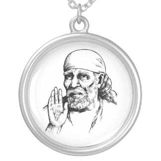 Hindu Saint SAI Silver Plated Necklace
