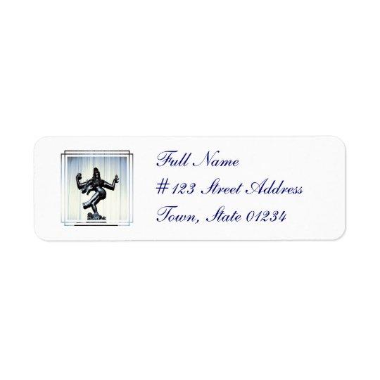 Hindu Shiva Mailing Label Return Address Label