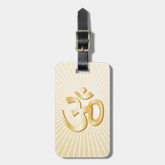 Hindu Symbol Bag Tag