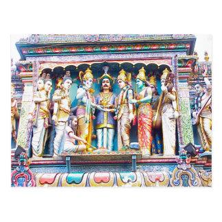 Hindu temple decoration, Hindu life Postcard