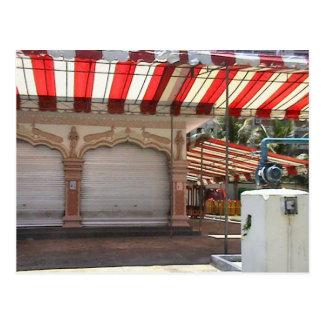 Hindu temple, inside the courtyard postcard