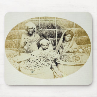 Hindu Vegetable and Fruit Sellers in Madras, 19th Mouse Mat