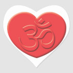 Hinduism Heart Stickers
