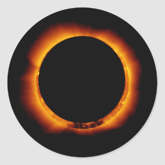 Hinode Observes an Annual Solar Eclipse Round Sticker