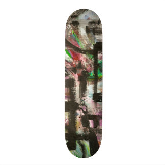 Hint of Spring-Hand Painted Abstract Brushstrokes Skate Boards