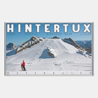 Hintertux - the Gefrorene Wand Rectangular Sticker