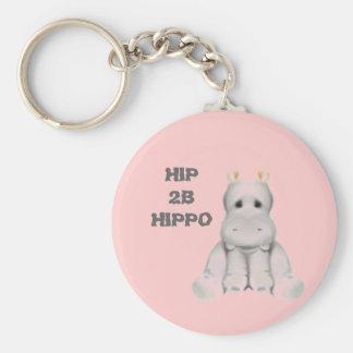 hip 2 B hippo Key Ring