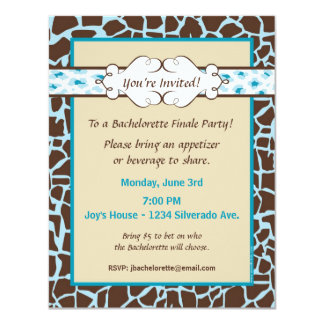 Hip and Chic Animal Print: Blue Card