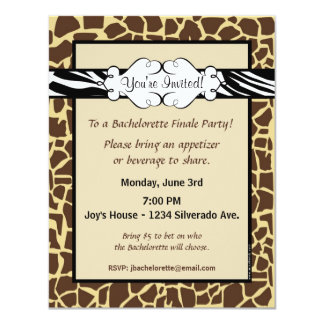Hip and Chic Animal Print Invitation