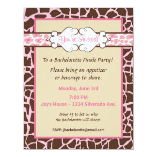 Hip and Chic Animal Print: Pink Card