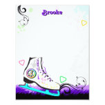 Hip and Colourful Ice Skate Note Card