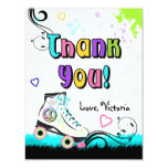 Hip and Colourful Roller Skate Note Card Personalised Invitations