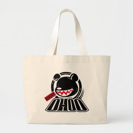 Hip bear tote bags