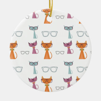 Hip Cats Christmas Ornament