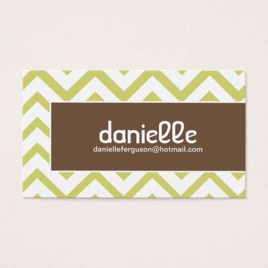Hip Chevron Profile Card - Business Card