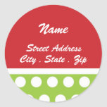 Hip Dots Christmas Address Label Stickers