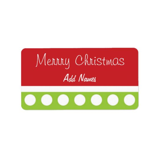 Hip Dots Christmas Labels