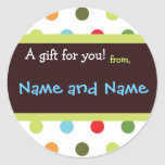 Hip Dots Personalised Gift Sticker