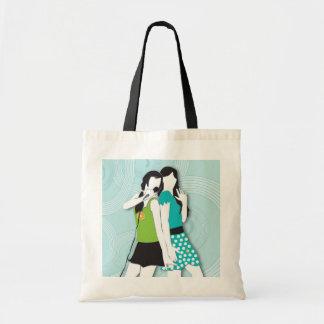 Hip Girls Singing Budget Tote Bag
