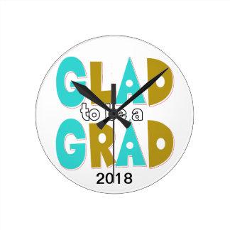 Hip Graduation Decorative Wall Clock