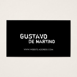 HIP GRUNGY BLACK Business Card