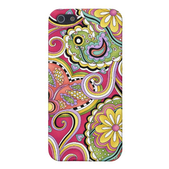 Hip Happy Paisley Pink iPhone 4 cover