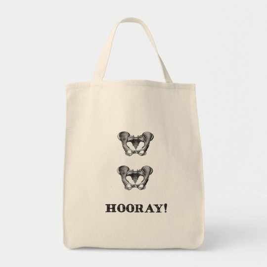 Hip Hip Hooray Anatomy Humour Tote