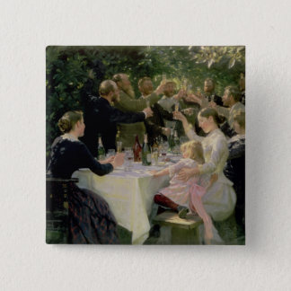Hip Hip Hurrah! Artists' Party at Skagen, 1888 15 Cm Square Badge