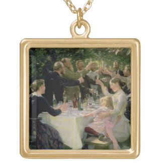 Hip Hip Hurrah! Artists' Party at Skagen, 1888 Gold Plated Necklace