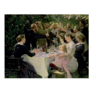 Hip Hip Hurrah! Artists' Party at Skagen, 1888 Postcard