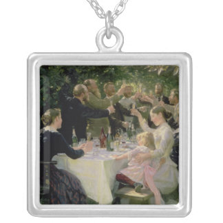 Hip Hip Hurrah! Artists' Party at Skagen, 1888 Silver Plated Necklace