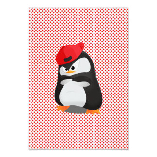 Hip Hop Angry Penguin 9 Cm X 13 Cm Invitation Card